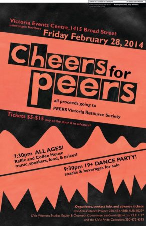 Event poster for Cheers for Peers
