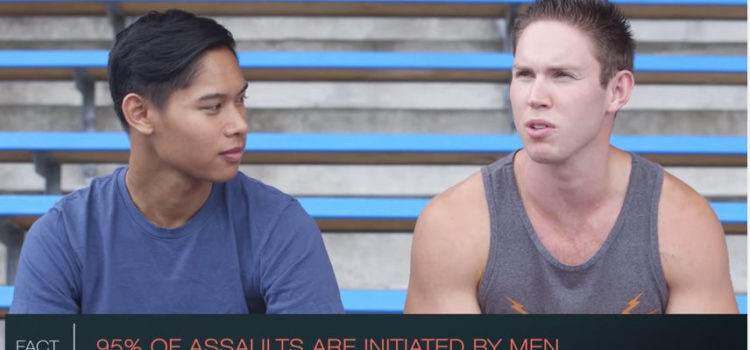 Two guys talk about the steps of consent on screen
