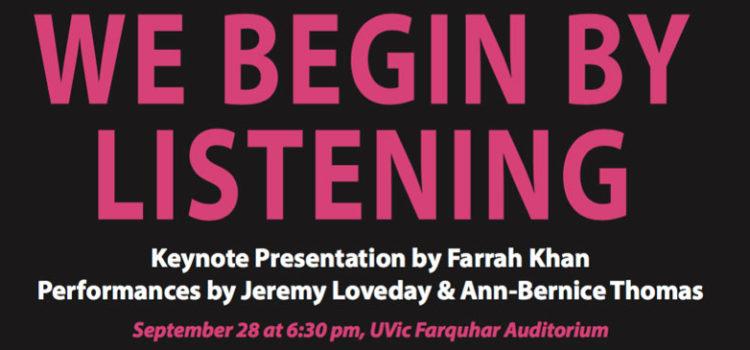 Keynote talk by Farrah Khan