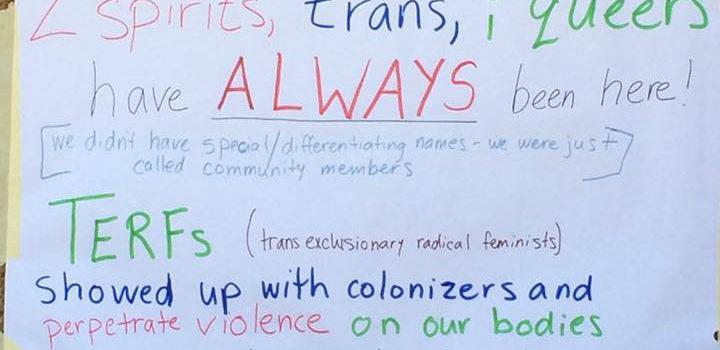 Trans-exclusion is violent