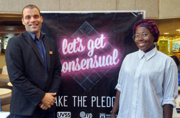 Jeremy Loveday and Ann-Bernice Thomas take the #LetsGetConsensual Pledge