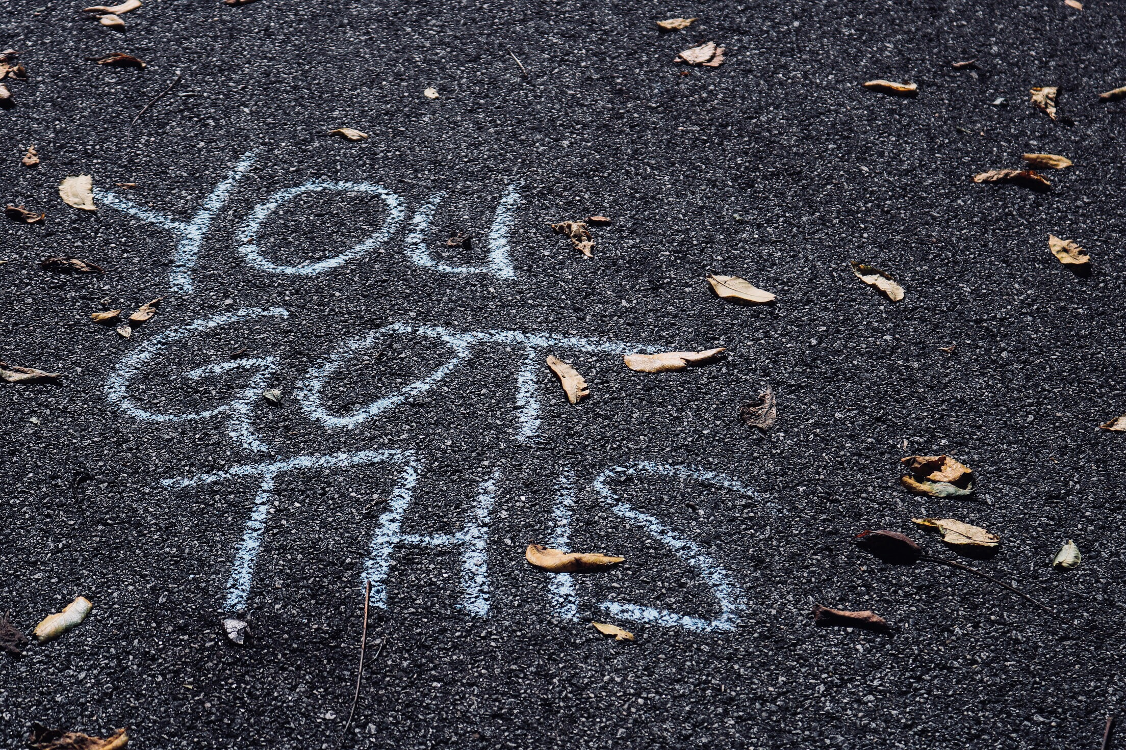 "Image of sidewalk chalk text that says ""You got this."""