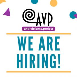 AVP is hiring a Volunteer Organizer!
