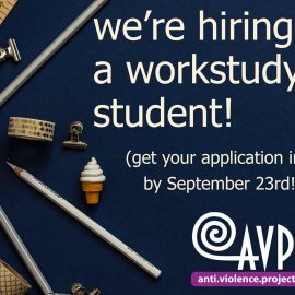 Be our work study student this year!