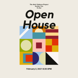 You are invited to the Anti-Violence Project's Open House