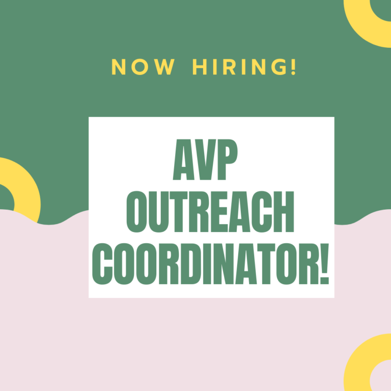 *Closed* Now hiring Outreach Coordinator
